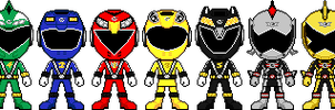 Engine Sentai Go-onger by Miralupa