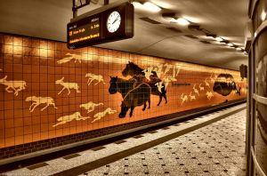 Subway Station Berlin by pingallery