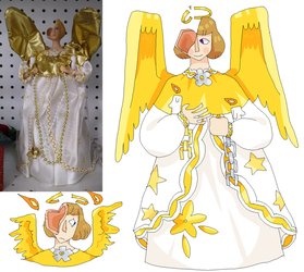 Thrift Store Angel by kingk0ala
