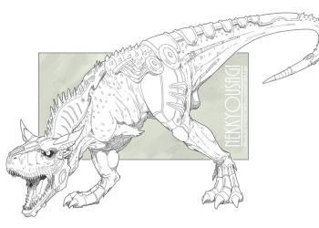 Commission - Bionic Carnotaurus by Orcagirl2001