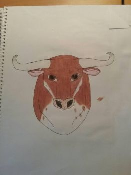 Art Class Assignment: The Brown Bull by Erick-the-Druid