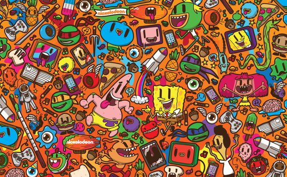Nickelodeon Franchise Pattern by j3concepts
