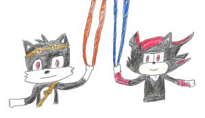 Boom Dark Tails and Boom Shadow - Enerbeams by dth1971