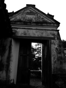 old entrance by Mallophora
