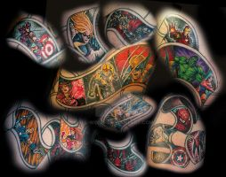 comic hero half sleeve by All-Wolff