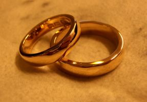 Gold wedding bands by fairyfrog