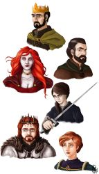 A Song of Ice and Fire characters by NessunoY59