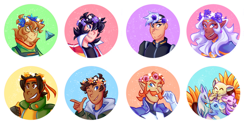 Voltron Buttons by luxites