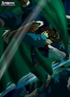 Korra vs South Pole Warrior The Courtin by SolKorra