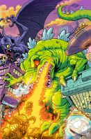 Rugrats Reptar Cover for Kaboom by KaijuSamurai