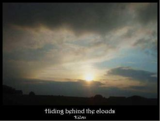 Hiding behind the clouds by kilou