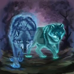 Spiritual wolves by uialwen