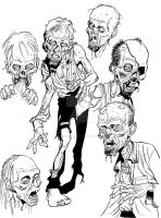 Zombie sketch stuff by angryrooster