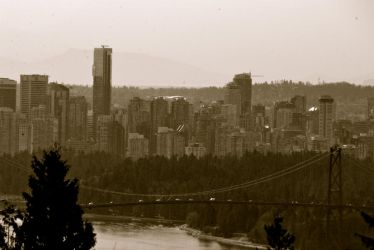 Vancouver Skyline by BeforeWeWakeTheSky