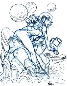 SPACE GAL by Wieringo