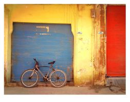 RED - YELLOW - BLUE --bicycle by jamirana
