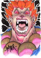 Akuma Marker Sketch(2) by RecklessHero