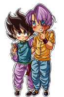 Innocent Child and Trouble-maker. by dbz-senpai