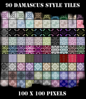 90 Damascus Style Web Tiles by excheesetorpedo