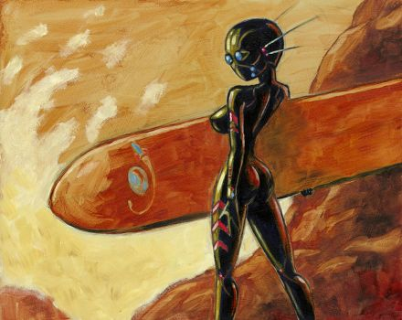 Surfing On Other Planets by Varin-maeus