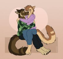 Noselick n Cuddles by SolidStomak