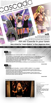 cascada website design by yanirsch
