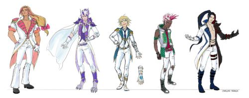 League of Legends Boyband concepts by CharlottaBavholm