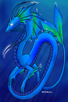 Deep Sea Blue Dragon by LauraRamirez