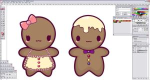 WIP Kawaii Gingerbread by mAi2x-chan
