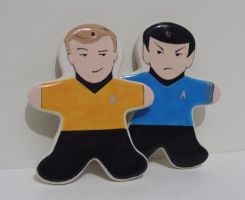 Spock and Kirk Gingerbread by OriginalBunny