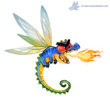 Daily Paint #992. Dragonfly (OA) by Cryptid-Creations