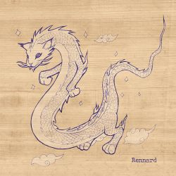 Chinese Dragon Long Cat by RennardX