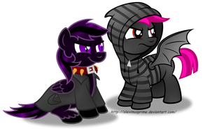 Commission:  Phil and Batty hanging out by AleximusPrime