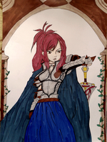 Erza the Knight by VasilissaBlues