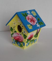 Floral Birdhouse by sweetpie2
