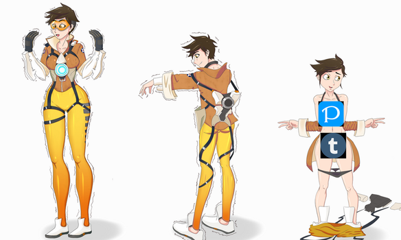 Overwatch: Tracer 1/? by Kahullt