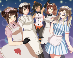 Aph - halloween maids by Chantalwut
