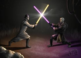 Jedi vs Sith revisited by ChemaIllustration