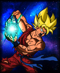 Goku's Charge by shunter071