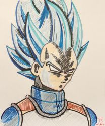 Vegeta super saiyan blue by the1sully