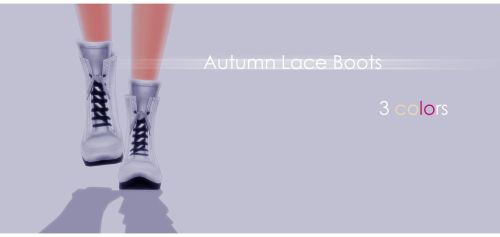 Autumn Lace Boots by Mari-Ichi