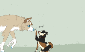 I Boop Your Nose by MirageWolf