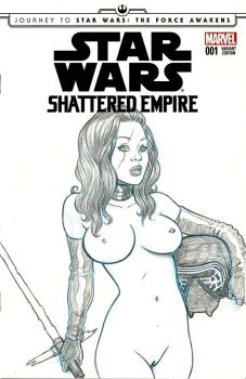 Star Wars Shattered Empire Sketch Cover by Nortedesigns