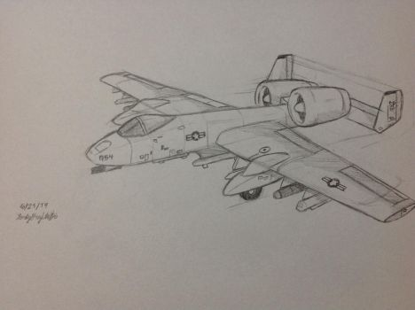 Fairchild Republic A-10 Thunderbolt II  by LonelyGrayWolfie