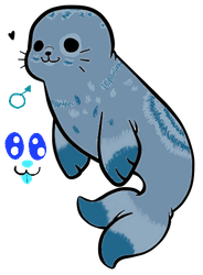 My new (yet unnamed) seal fursona! by Spirit-ulf