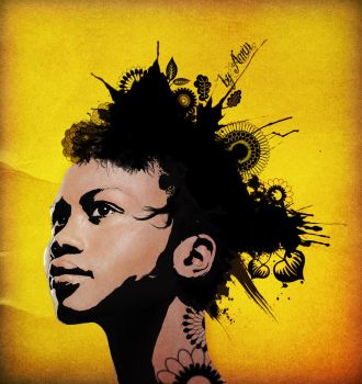 afro girl by amincreations