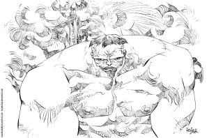 Hulk inks by rogercruz