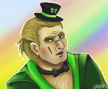Dwarfy the Leprechaun by allisonsaurus