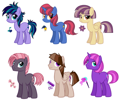 OC Ponies by TheCheeseburger