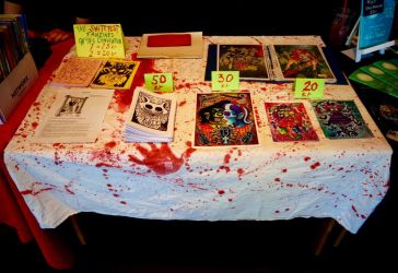 My table at Stockholm's comic festival 2018 by chricko